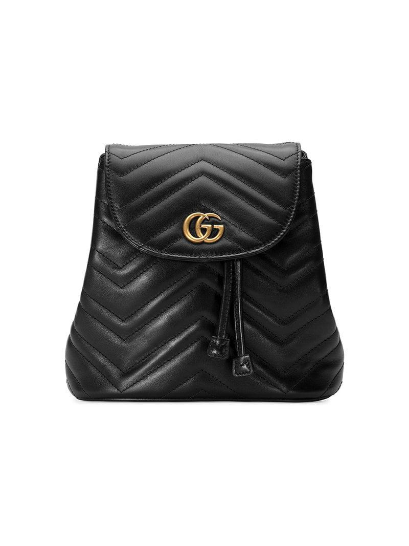6a033f91a529 Gucci Gg Marmont Matelassé Backpack in Black - Save 17% - Lyst