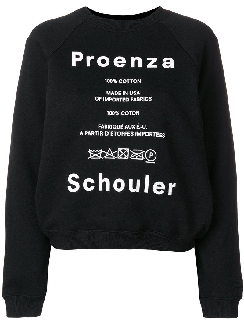 care label sweater - Black Proenza Schouler Online Cheap Quality xF5WRqAoR