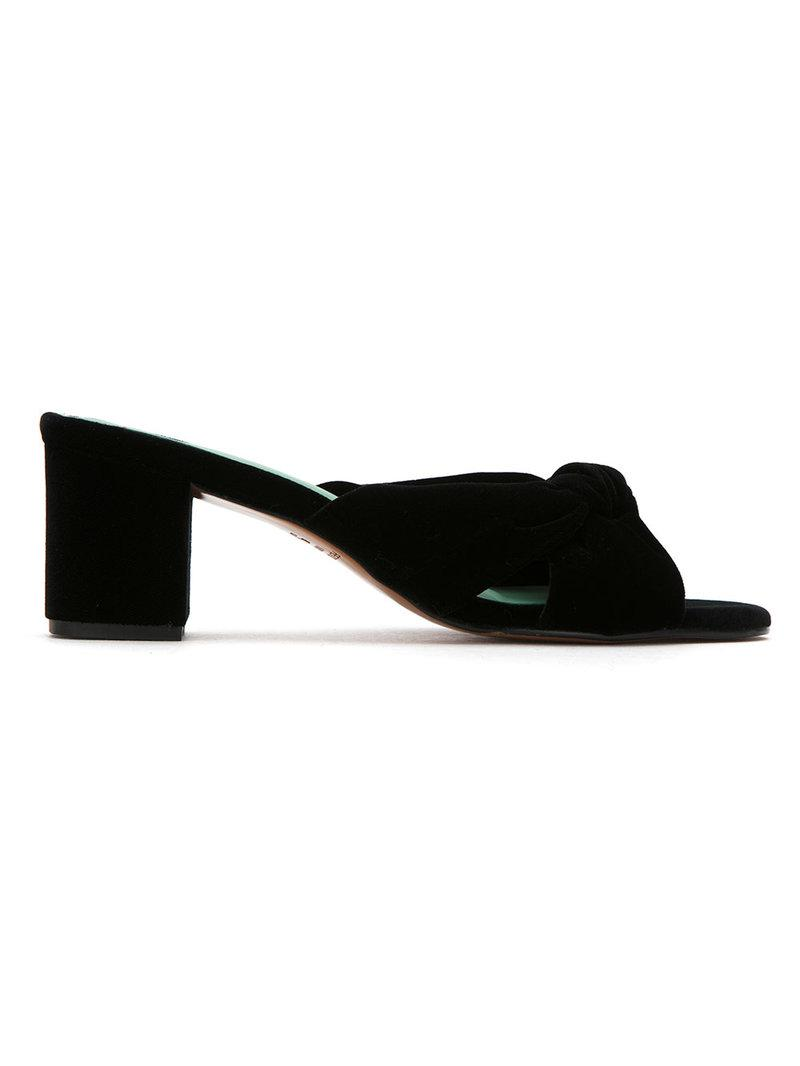 Sale Professional The Cheapest For Sale Blue Bird Velvet Nó mules Free Shipping I64M1ZO