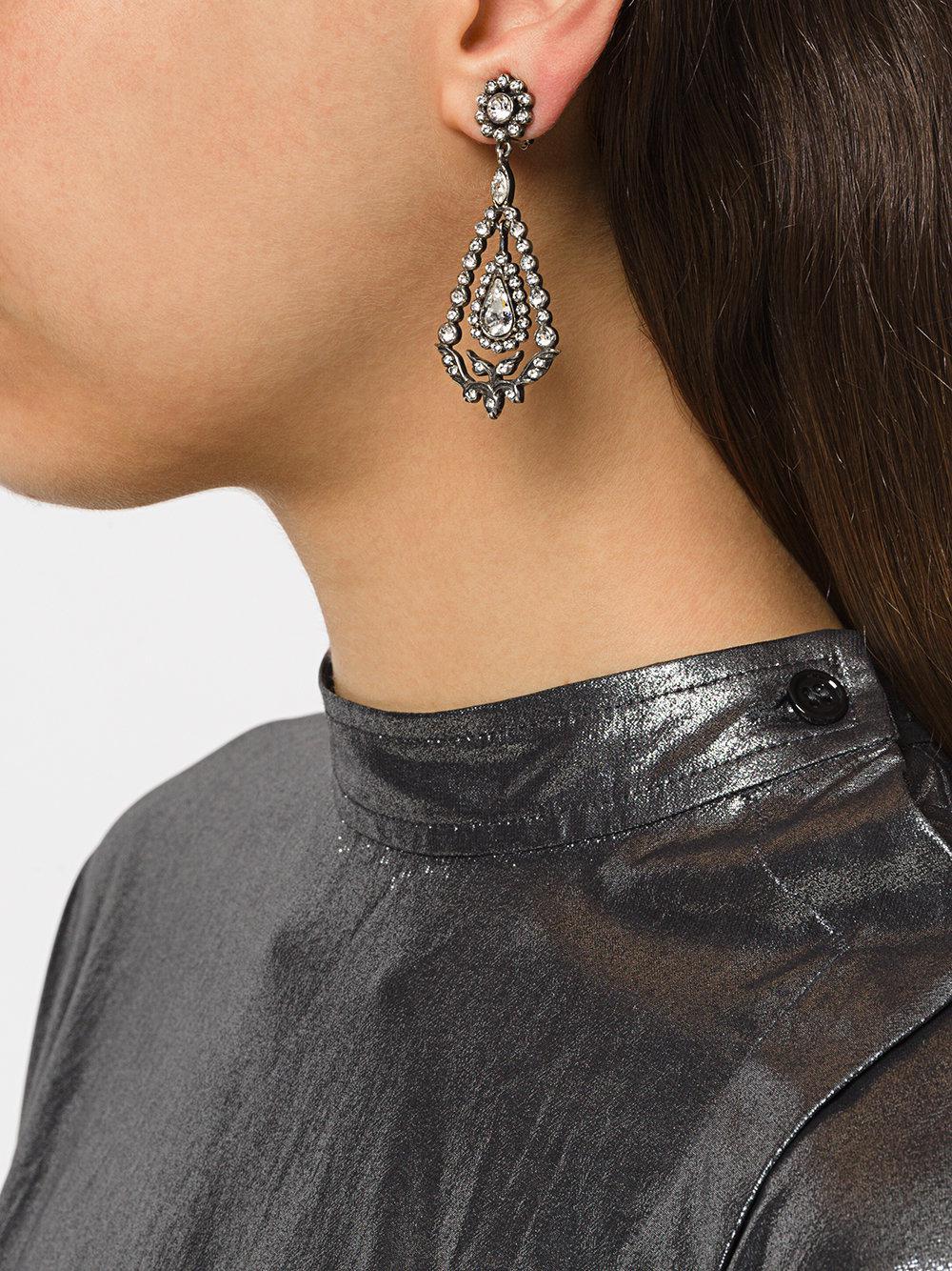 N°21 romantic strass earrings - Metallic IfshE2