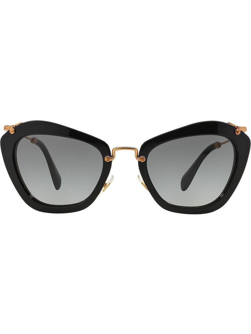 bee26b7e8ca Miu Miu Noir Sunglasses in Black - Lyst