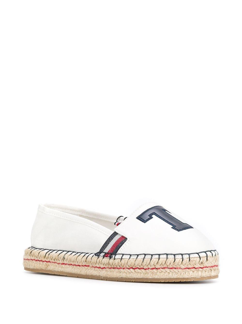 31b60449887 Lyst - Tommy Hilfiger Monogram Patch Espadrilles in White