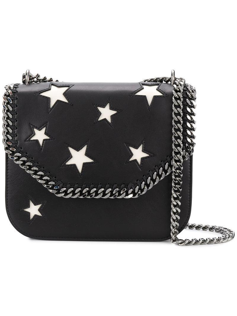 8ecef61357 Lyst - Stella McCartney Falabella Box Stars Shoulder Bag in Black ...