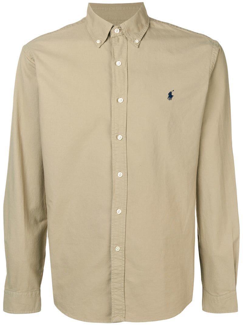 1fbbe110a22 Lyst - Polo Ralph Lauren Button Down Logo Shirt for Men