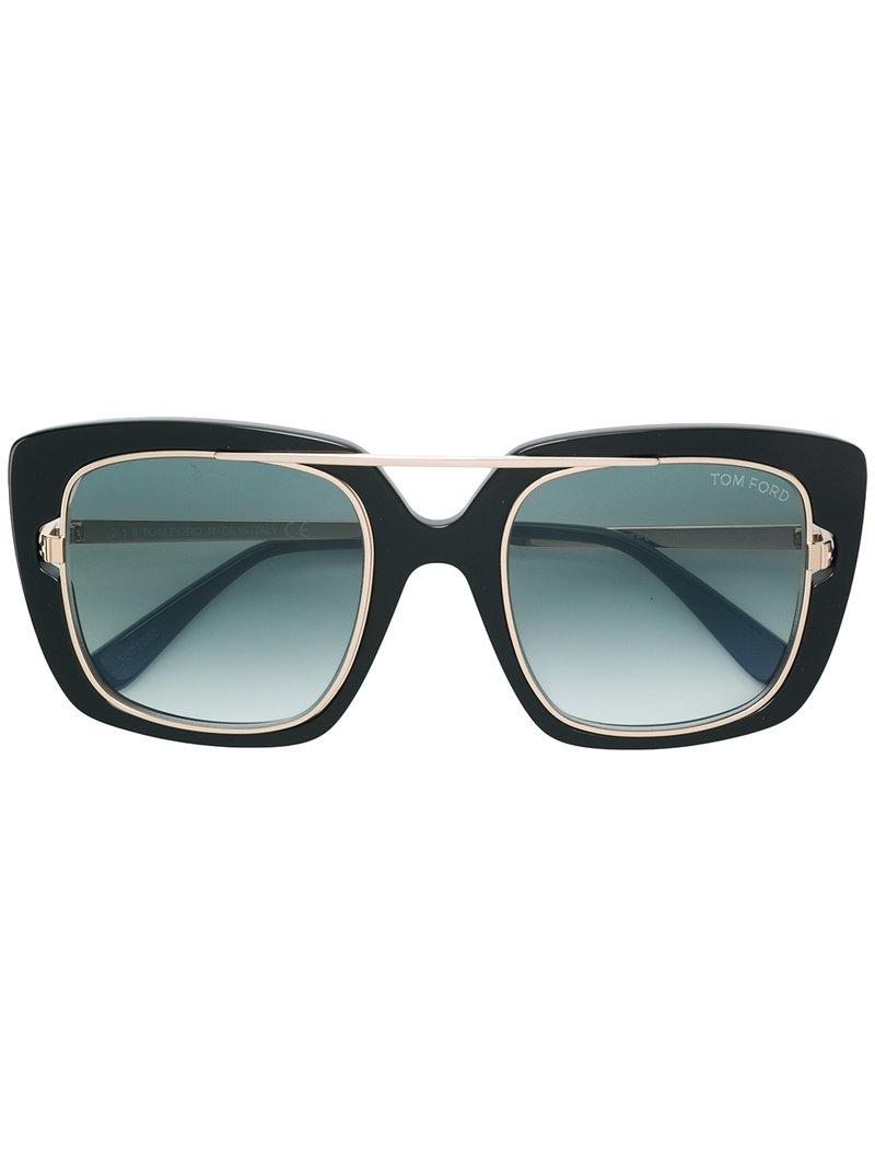 424cc34d028 Tom Ford - Black Square Sunglasses - Lyst. View fullscreen