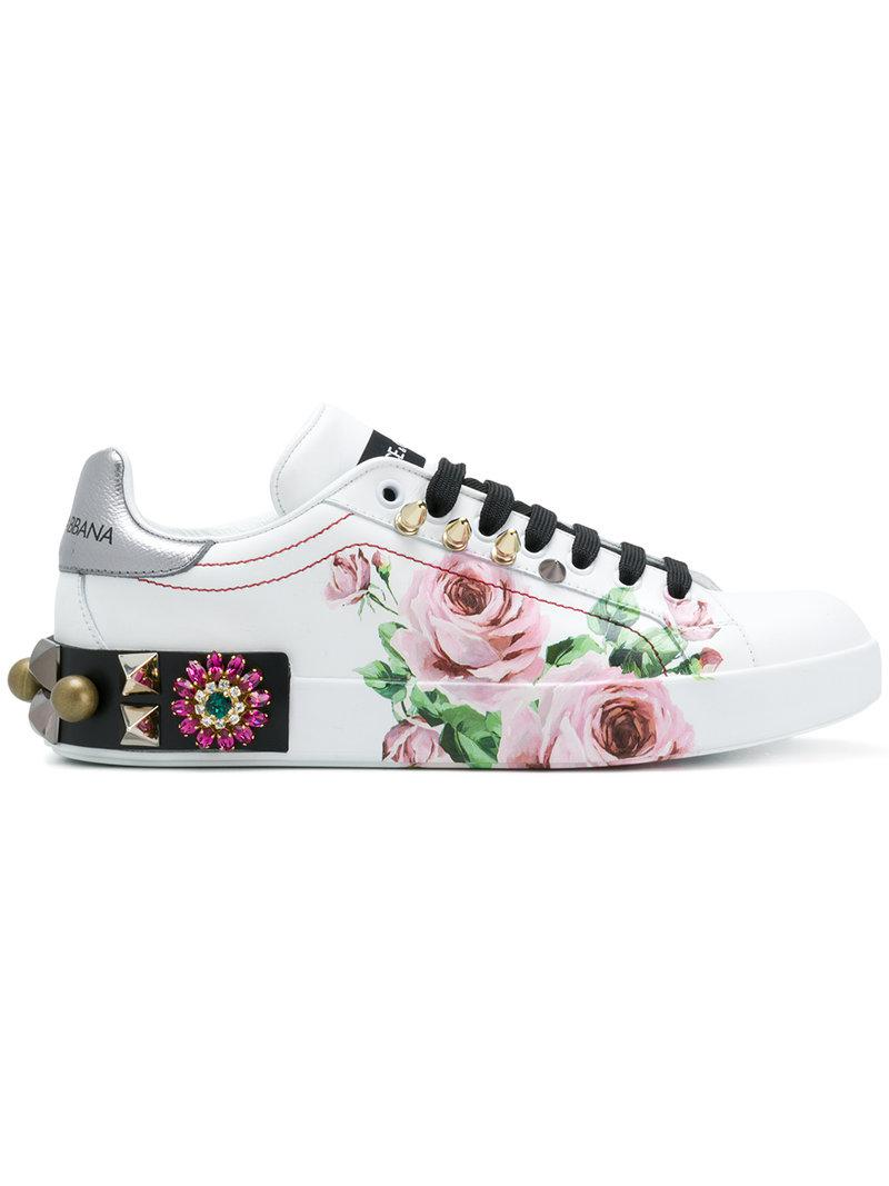 printed low top sneakers - White Dolce & Gabbana Sale Store RxxogEQ7
