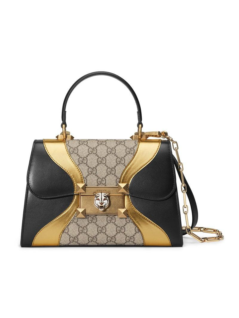 a84832d9d2234c Gucci Osiride Small GG Top Handle Bag in Black - Lyst