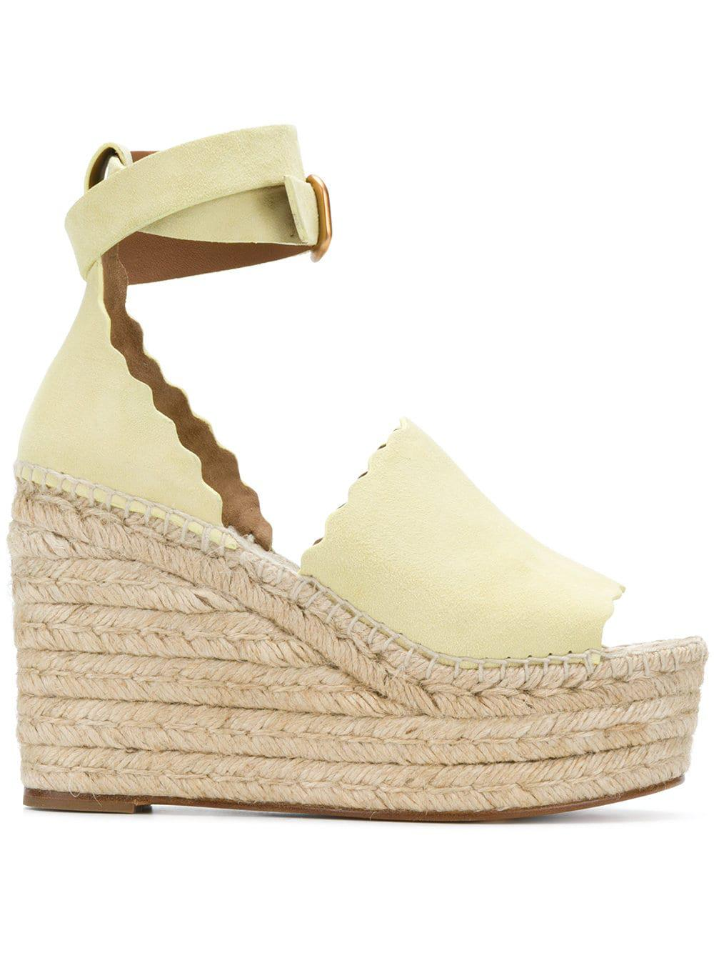 b4c527adda8a Chloé Lauren Espadrille Sandals in Yellow - Lyst