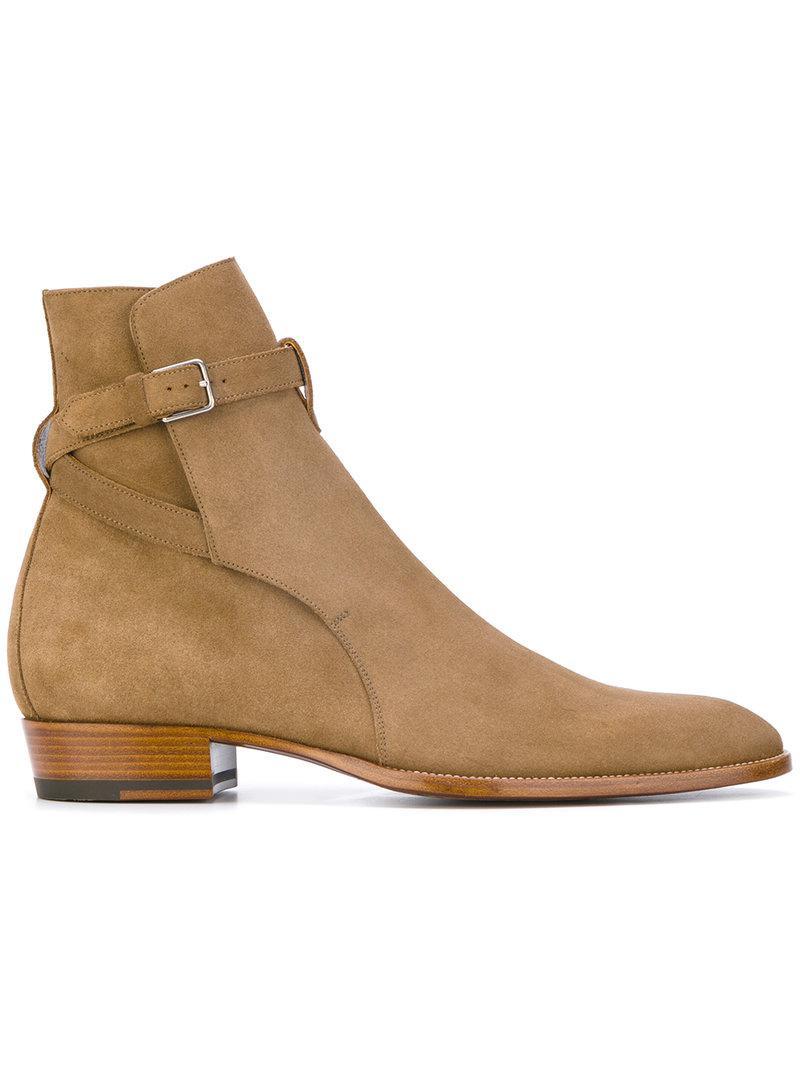 From China Sale Online Signature Wyatt 30 Jodhpur boots - Brown Saint Laurent Clearance i42p6xkNJ