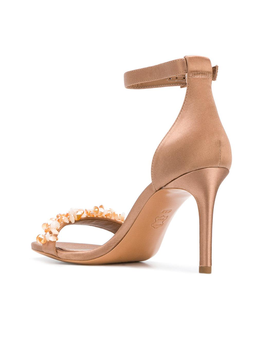 Outlet Choice Logan stiletto sandals - Pink & Purple Tory Burch Clearance Online Ebay Free Shipping Amazing Price Good Selling Low Shipping Fee Online OcgnG4CJ