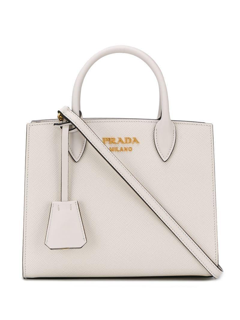 00201b23e619 Prada Galleria Saffiano Leather Bag in White - Lyst