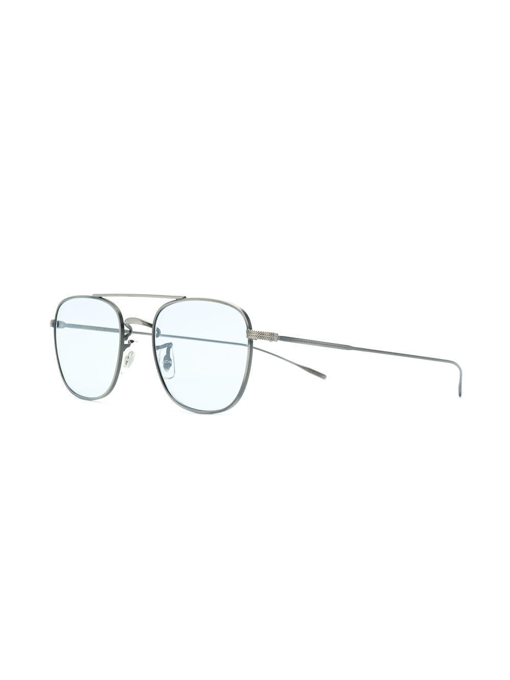 278a824aaf7 Oliver Peoples Kress Square Glasses in Metallic for Men - Lyst