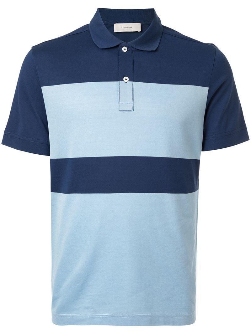 337a44ed Cerruti 1881 Colour-block Polo Shirt in Blue for Men - Lyst