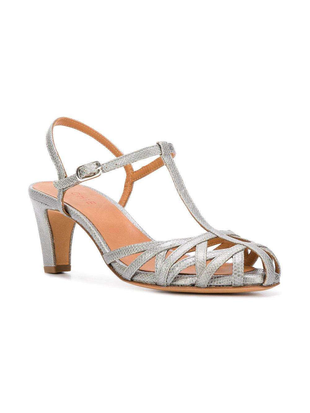 In Fish Mihara Sandals Strappy Chie Gray Lyst Scale shrdxBQtC