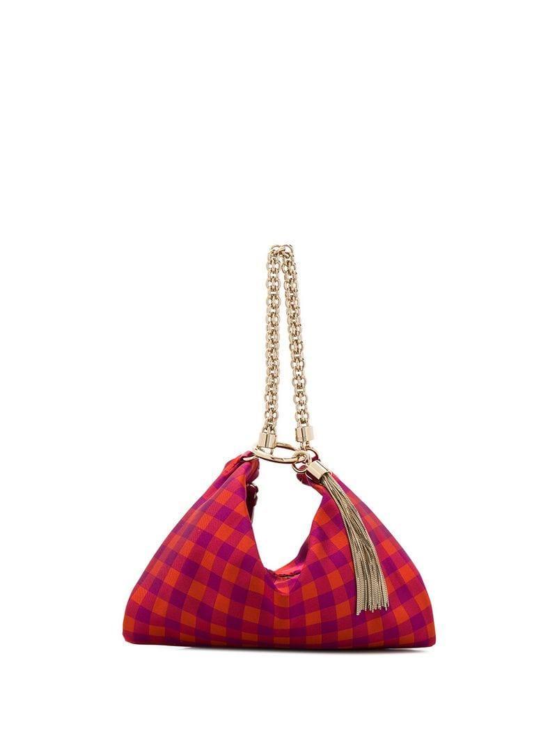 0698ec27ad Lyst - Jimmy Choo Callie Clutch Bag in Pink