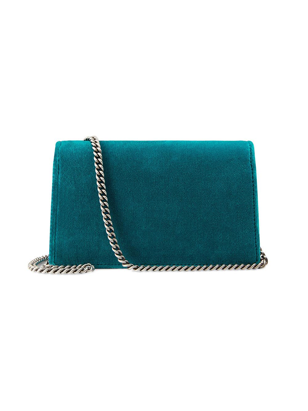 35bf347dde0c Gucci Dionysus Velvet Super Mini Bag in Blue - Lyst