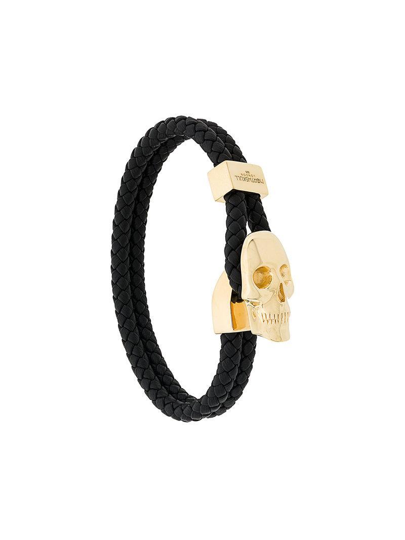 Northskull Atticus Skull double wrap bracelet - Black 7xAa753
