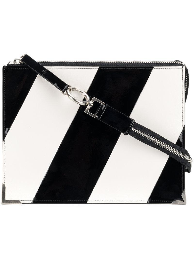 diagonal stripe clutch - Red Maison Martin Margiela Affordable Cheap Online hVVrKdr
