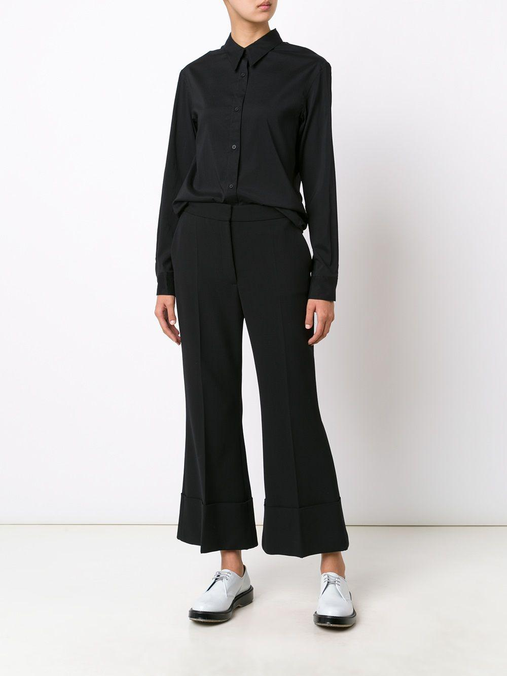 Lyst - Lemaire Pointed Collar Shirt in Black