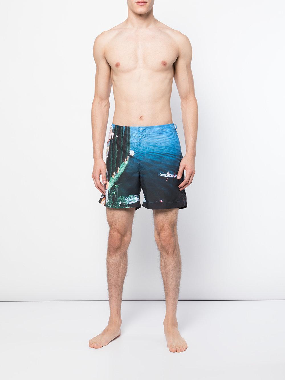 823b0b4475 Orlebar Brown - Blue Lake Como Printed Shorts for Men - Lyst. View  fullscreen