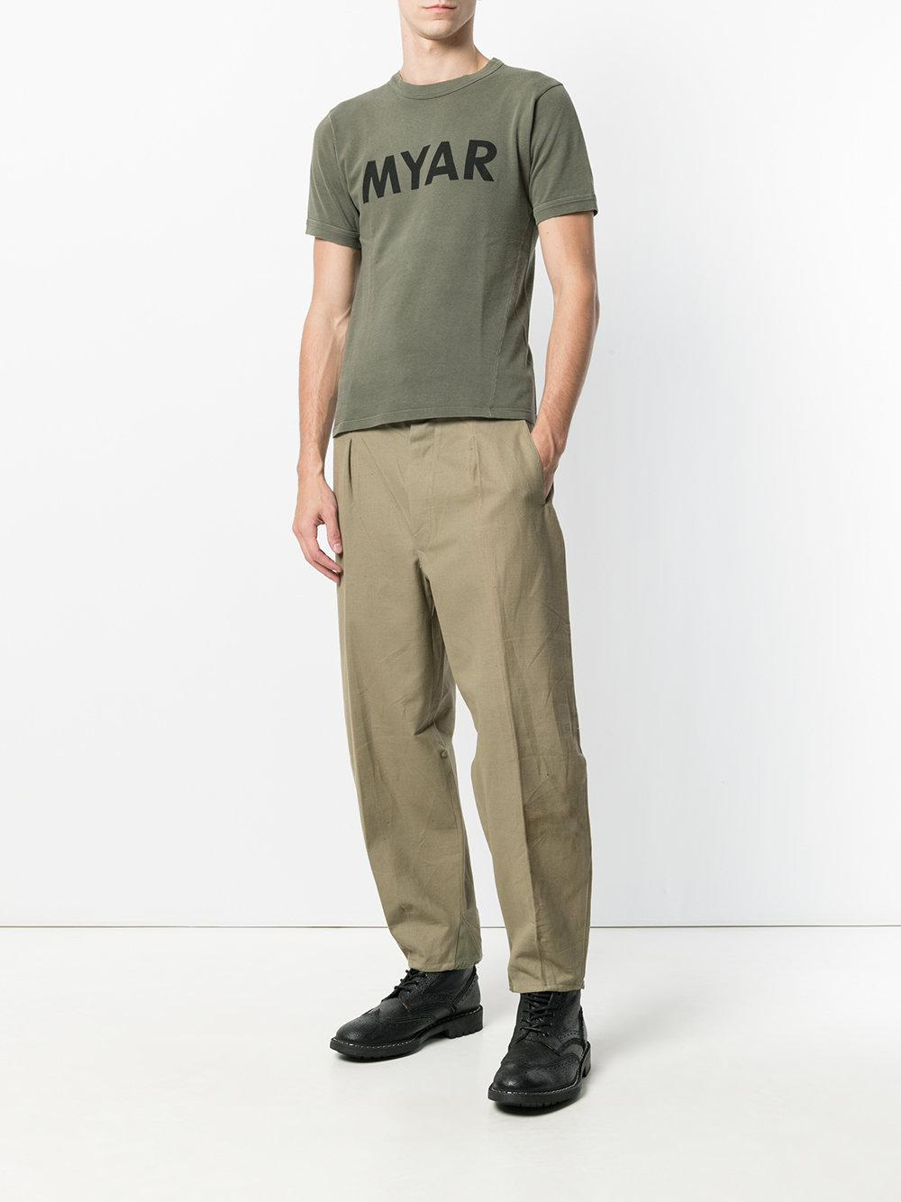 tapered stirrup trousers - Green Myar 57WpsGYF0