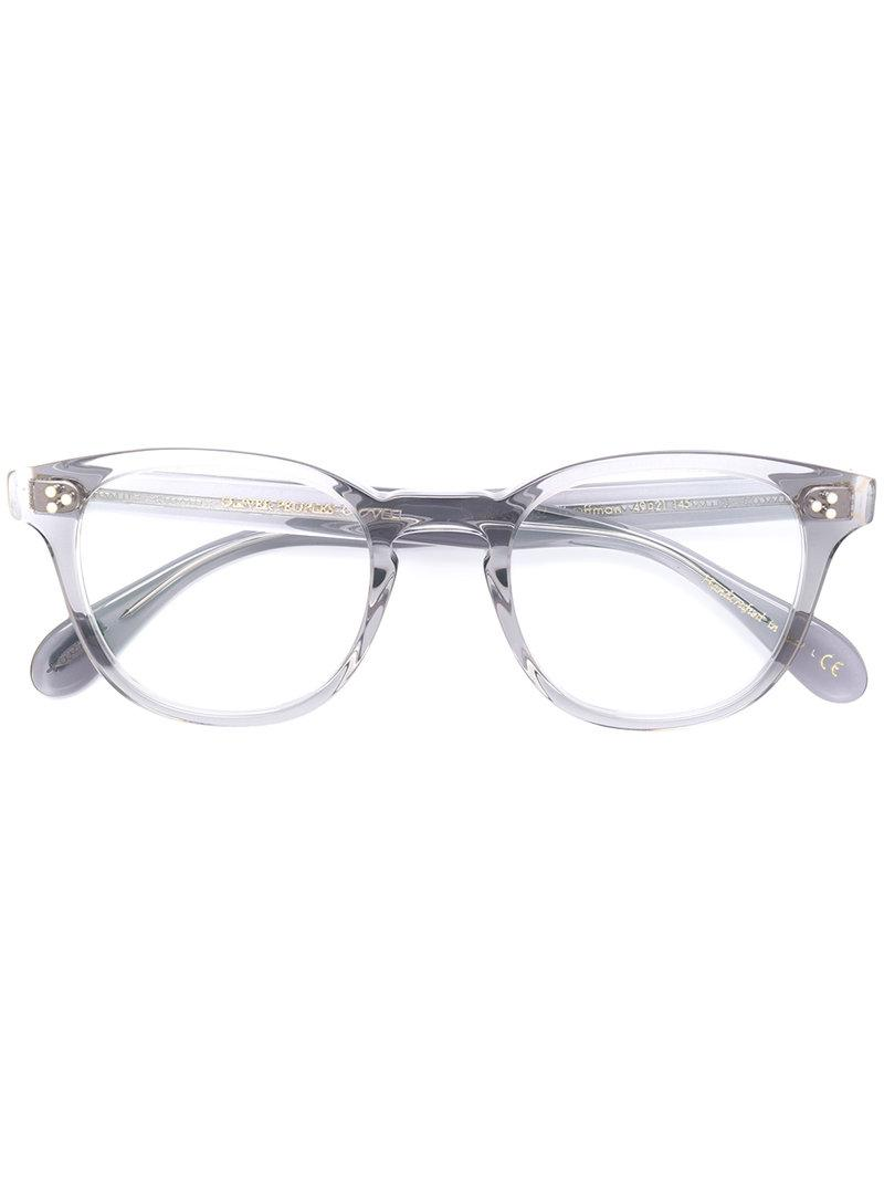 Lyst - Oliver Peoples Kauffman Round Frame Glasses in Metallic
