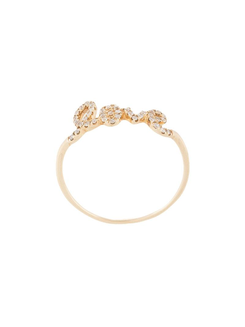 Sydney Evan 14kt yellow gold love ring - Metallic pvJIB