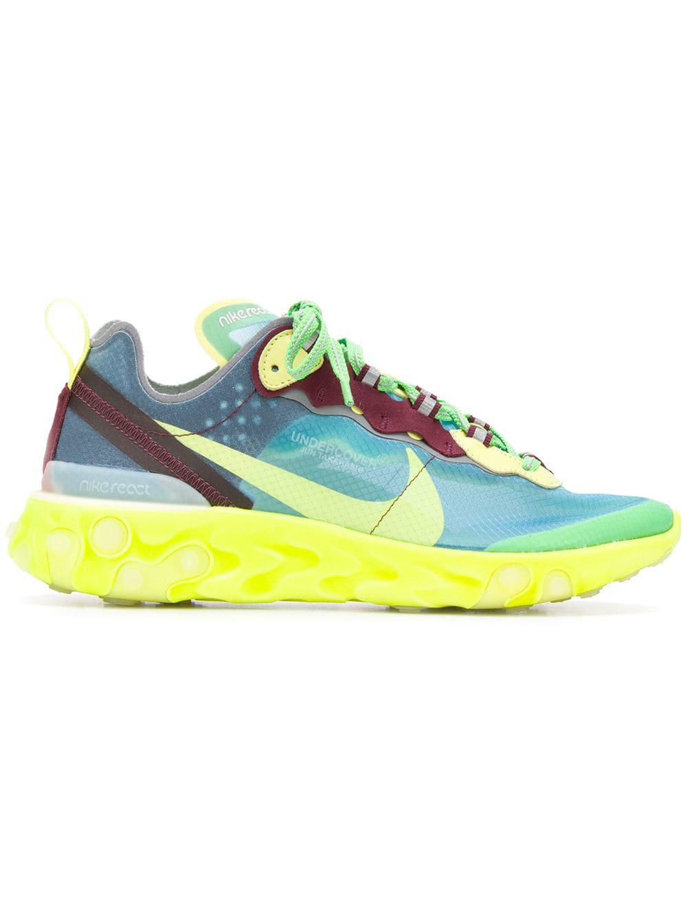 new product aa10e b7ab7 Nike Undercover  React Element 87 Sneakers in Blue - Lyst