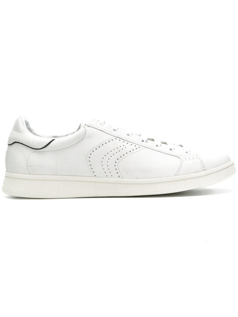 perforated logo sneakers - White Geox k3wfanL