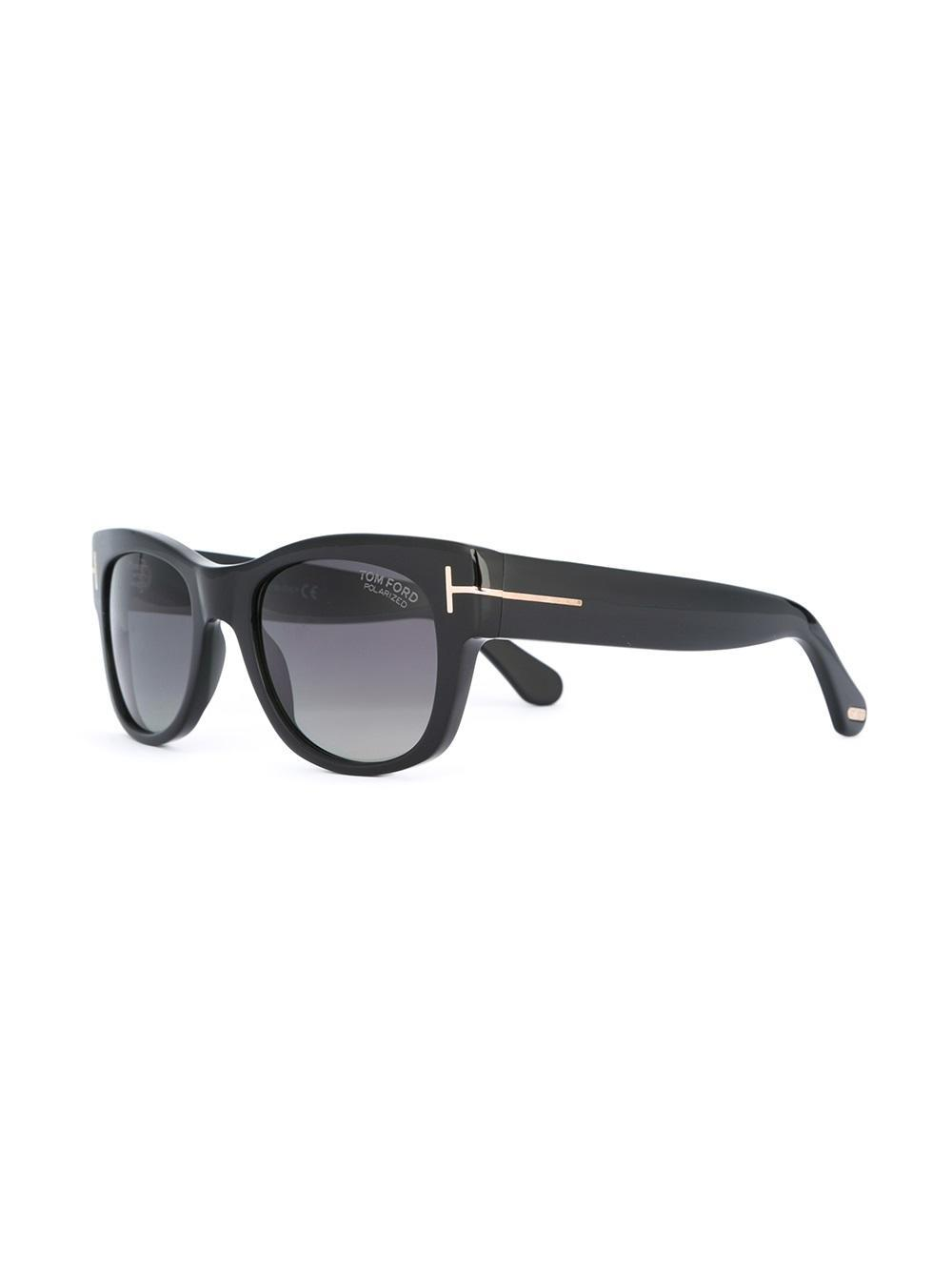 23d97feef93b Lyst - Tom Ford Square Shaped Sunglasses in Black