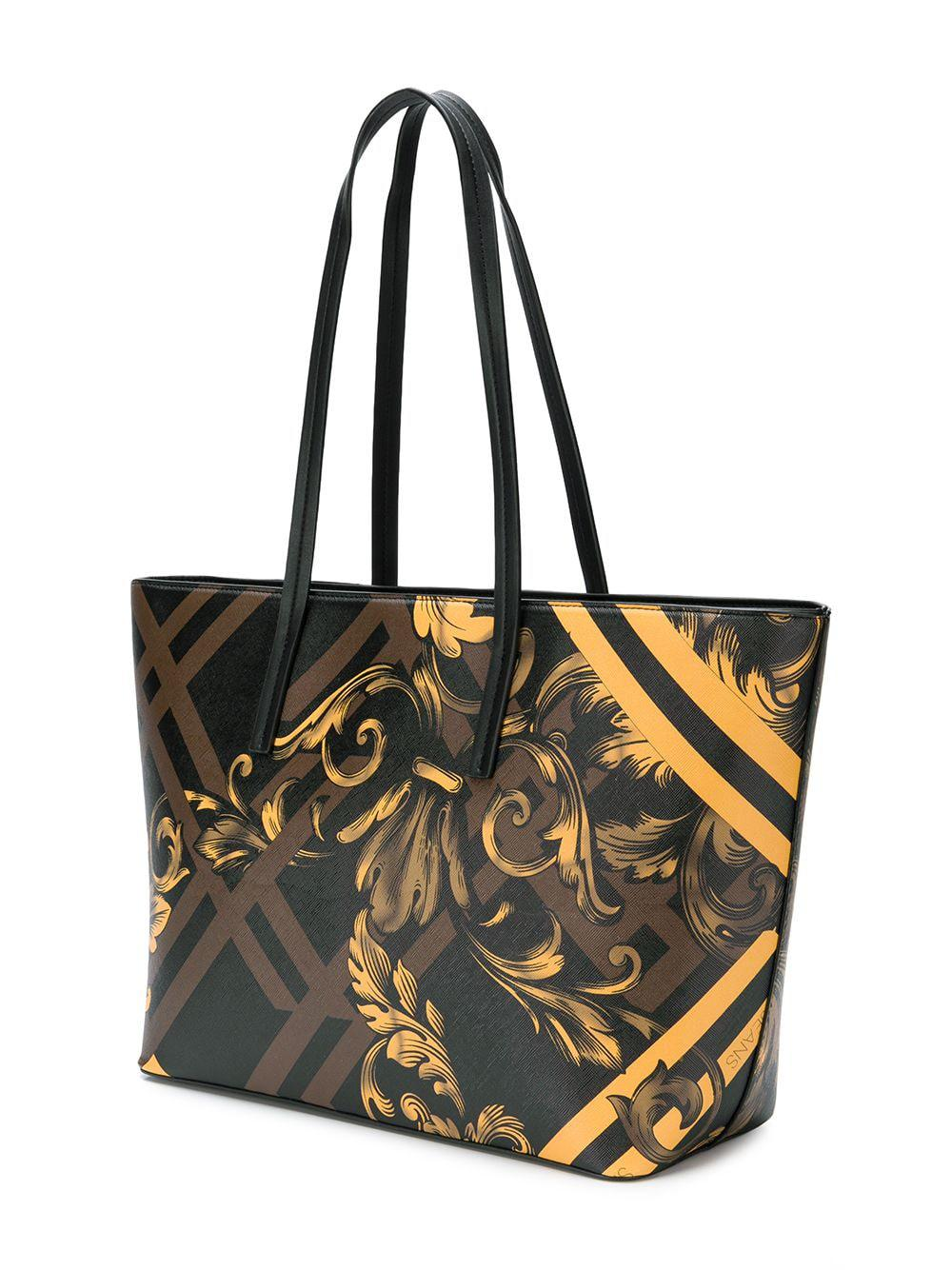 74449a0e50 Lyst - Versace Jeans Baroque Print Shopper Tote in Brown