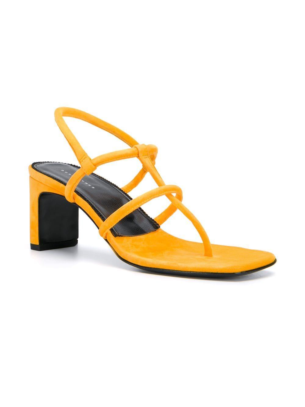 d2dc75dfa Dorateymur Thong Strap Sandals in Yellow - Lyst