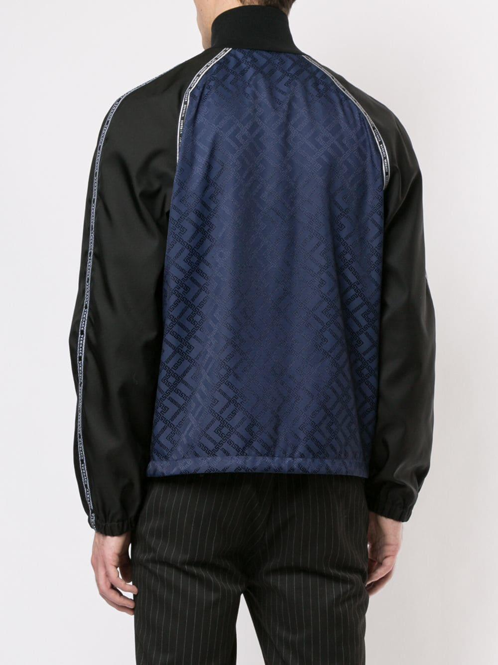 6e135450 Lyst - Versace Monogram Jacquard Track Jacket in Blue for Men