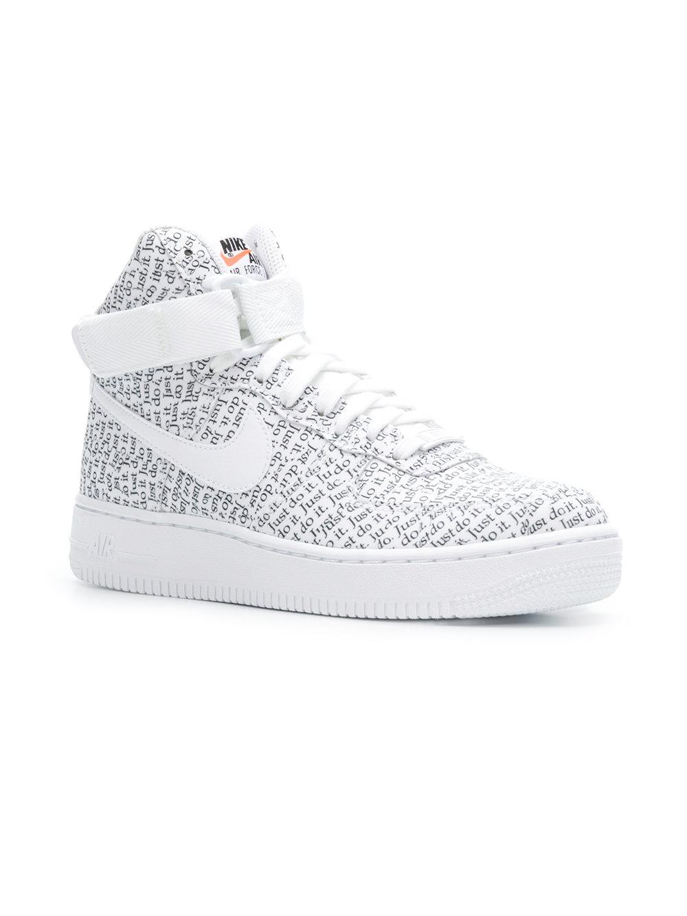 16a5b1ea72d Lyst - Nike Air Force 1 Hi-top Sneakers in White