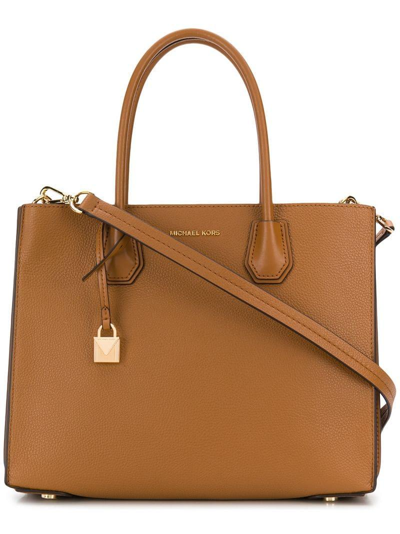 26b1b5e79c644b MICHAEL Michael Kors Large Mercer Tote in Brown - Save 66% - Lyst
