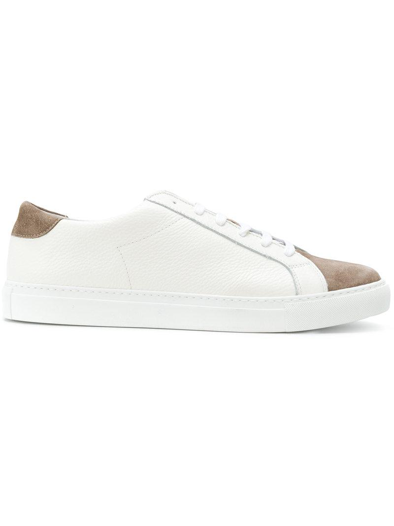 perforated lace-up sneakers - White Eleventy kSFBz4Vp