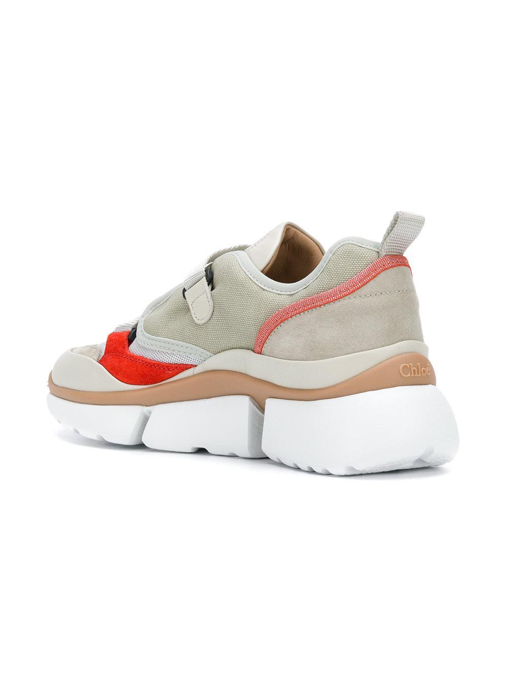 ridged platform futuristic sneakers - Green Chloé sRbrdKo