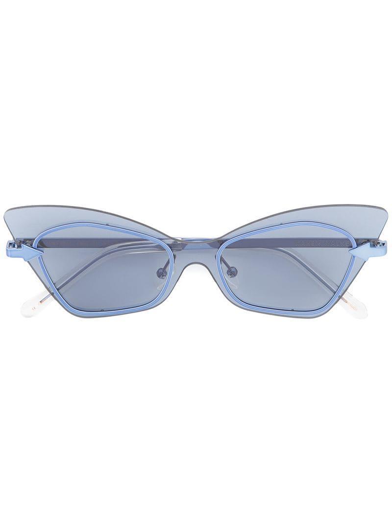 1829f0bfc8e Karen Walker Mrs Brill Sunglasses in Blue - Lyst