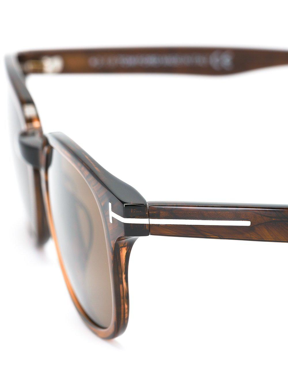 6f1c0aba9699 Tom Ford Square Shaped Sunglasses in Brown for Men - Lyst