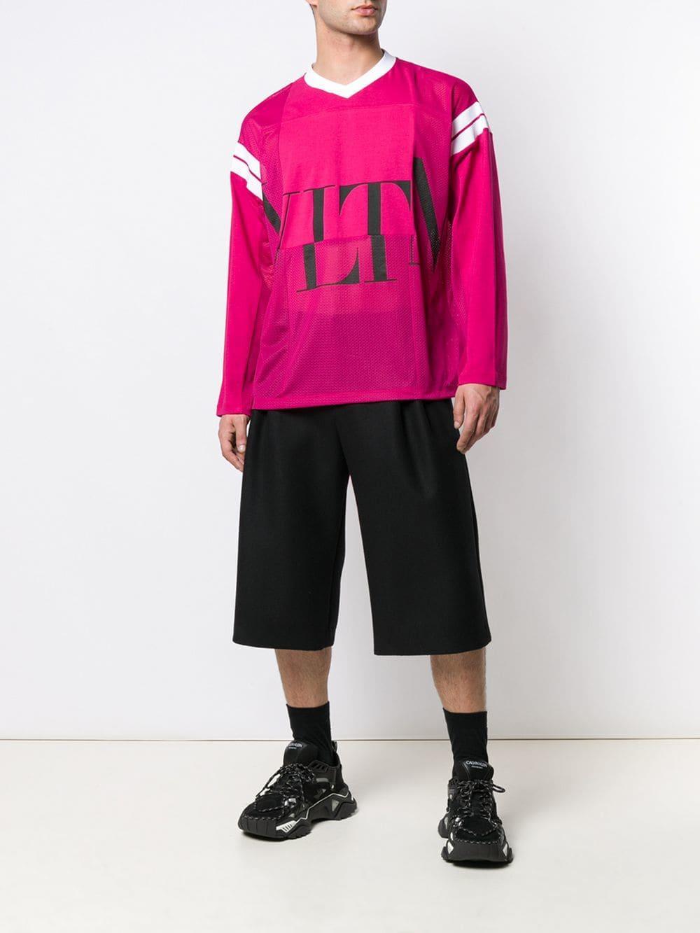 a9ce10623 Lyst - Valentino 'vltn' Logo Print Basketball T-shirt in Pink for Men