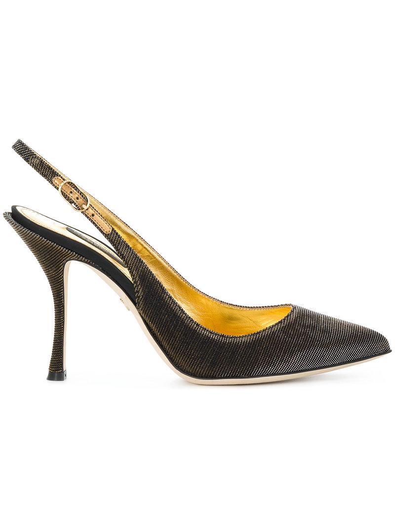 sling back pumps - Metallic Dolce & Gabbana NlGrH2Gq3