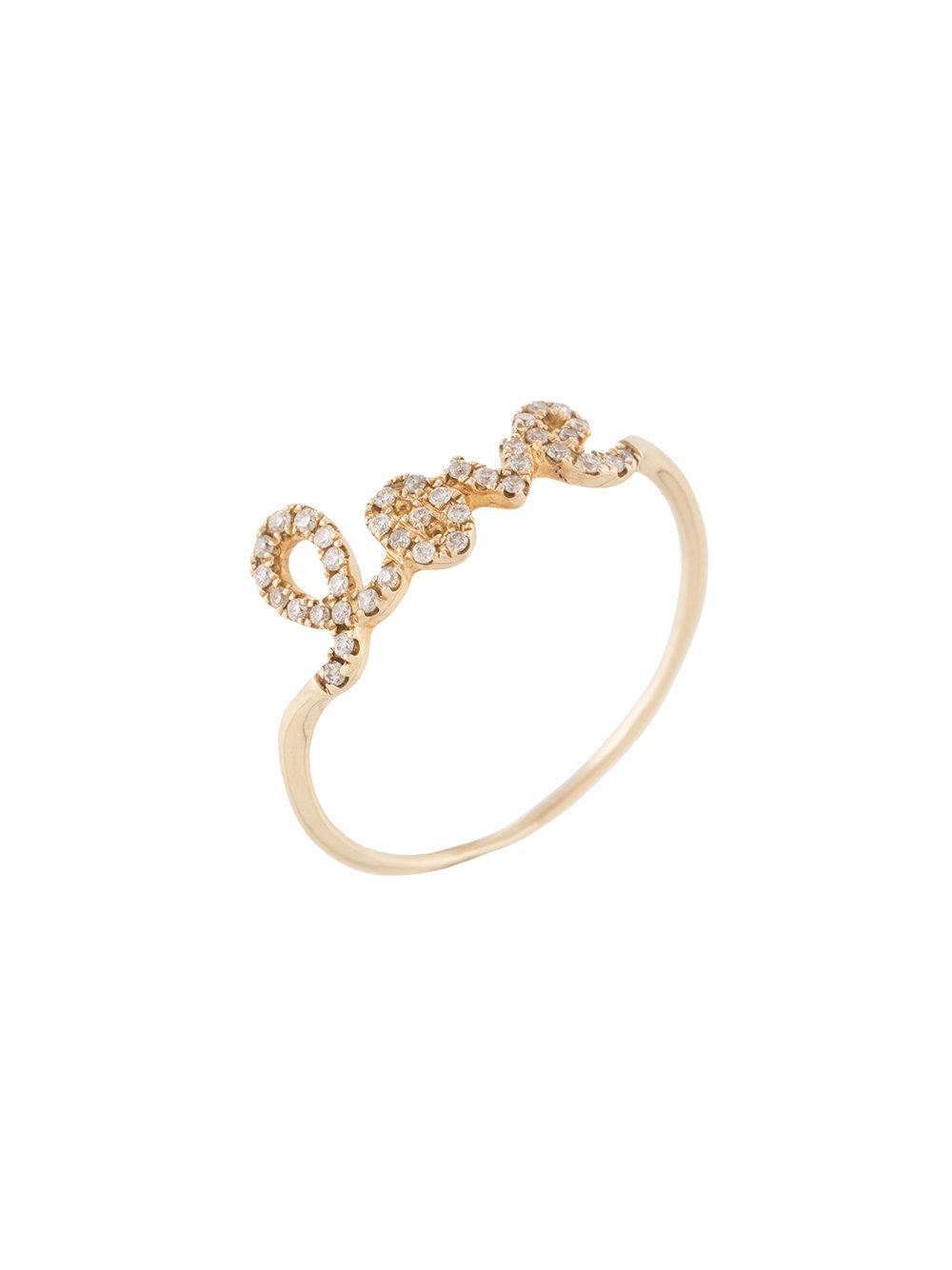 Sydney Evan 14kt yellow gold love ring - Metallic VlwVD