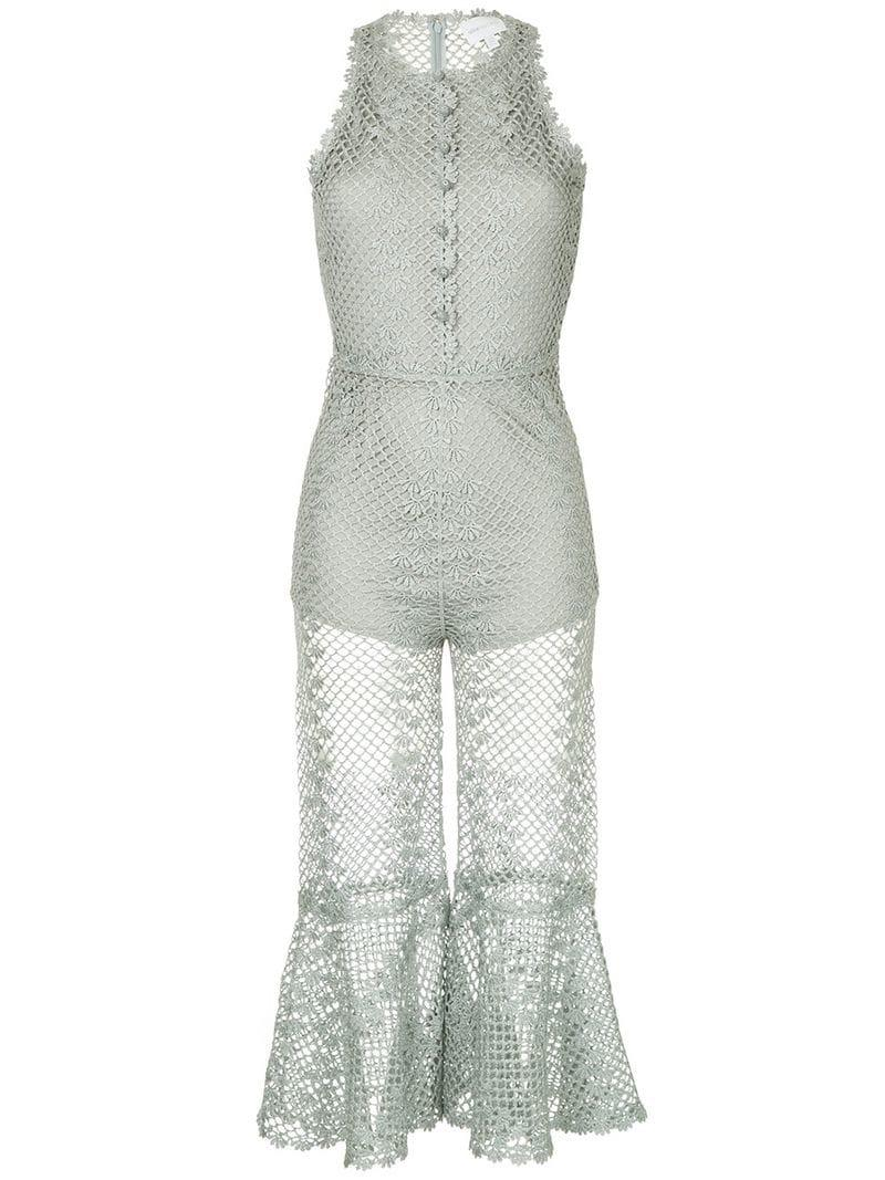 4cfbd71df0 Lyst - Alice McCALL Boogie Nights Jumpsuit in Metallic