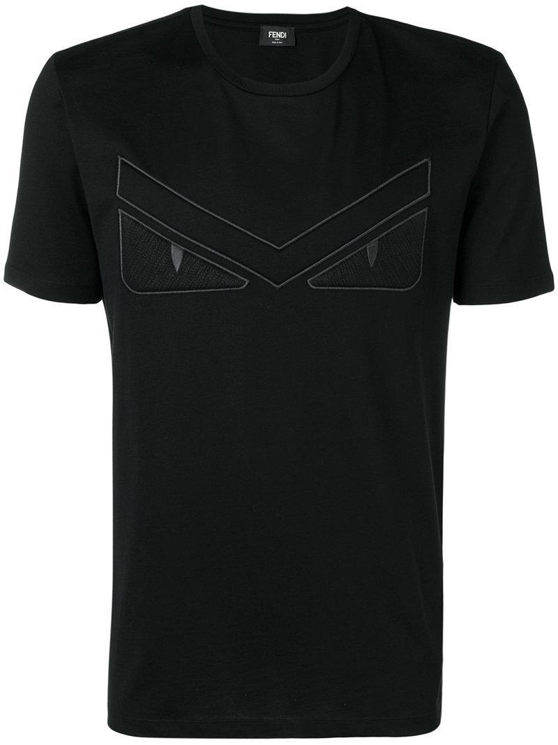 Fendi - Black T-shirt Monster for Men - Lyst. Afficher en plein écran 3f98c27e61d