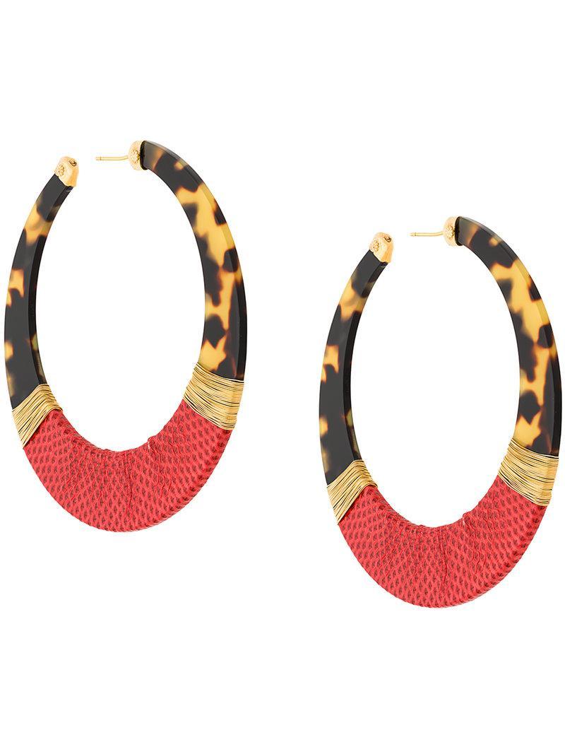 Gas Bijoux Octavia Acetate Hoop Earrings RcVrB3toRO