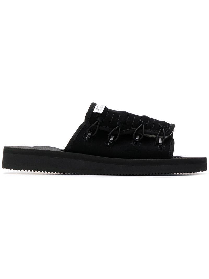 b4fa1022bcd Lyst - Suicoke Padded Slides in Black for Men