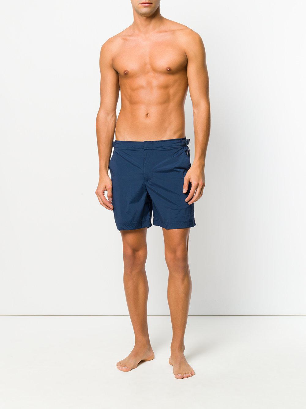 0099010aca Orlebar Brown Side Buckle Swim Shorts in Blue for Men - Lyst