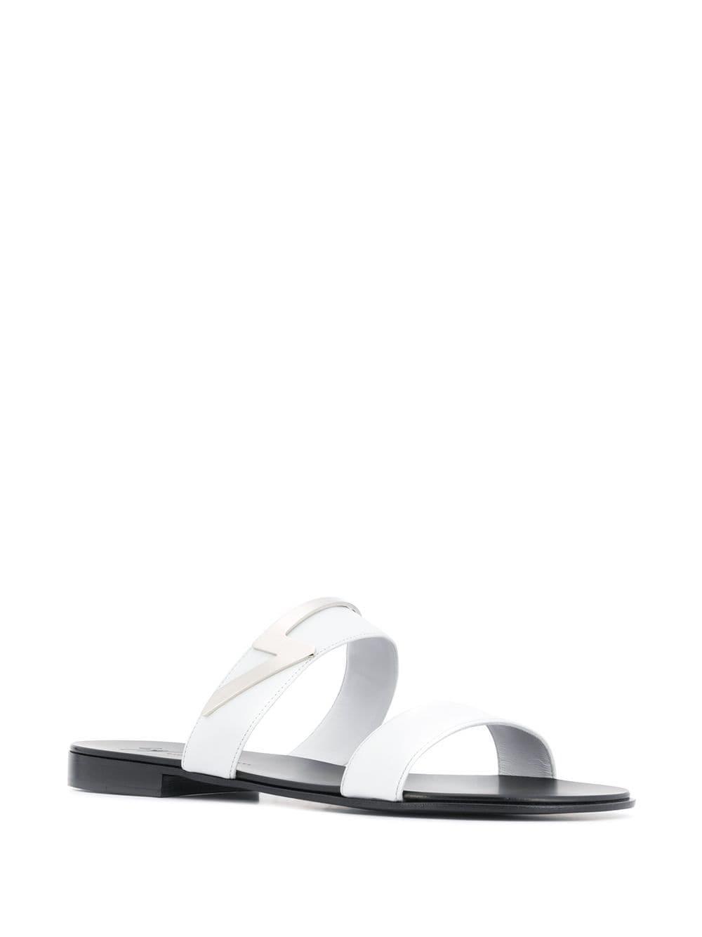 273607c32d462 Giuseppe Zanotti Zak Flash Sandals in White for Men - Lyst