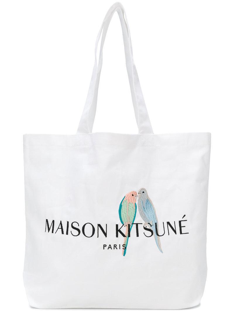 Maison Kitsuné Sac à main à logo I5pPwepp