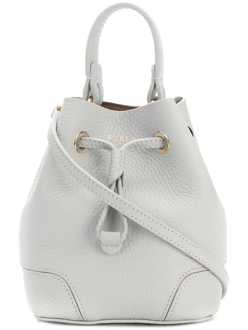Furla Mini Stacy Bucket Bag in Gray - Lyst e36ac08173